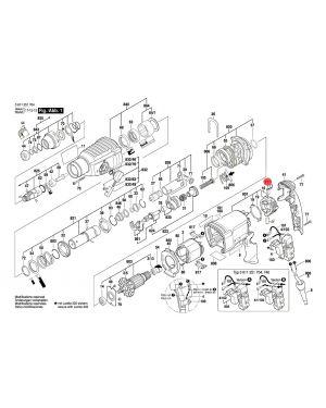 แปรงถ่าน GBH2-26 1617000525 Bosch