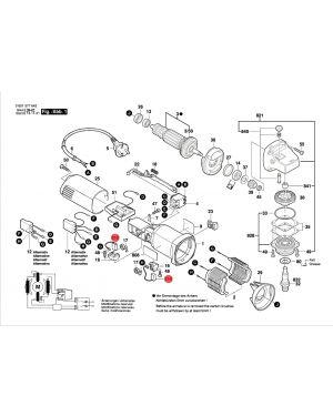 แปรงถ่าน GWS5-100 GWS6-100 GWS8-100C 1607014145 Bosch