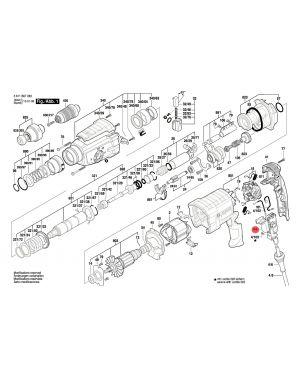 สวิทซ์ GBH2-26DFR GBH2-28DFV 1617200532 Bosch