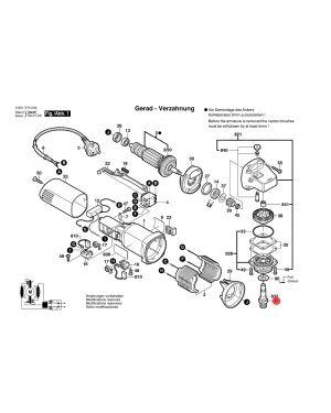 แกนเหล็ก GWS5-100 GWS6-100 1603523111 Bosch