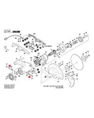 แปรงถ่าน GCO14-2 1609902320 Bosch