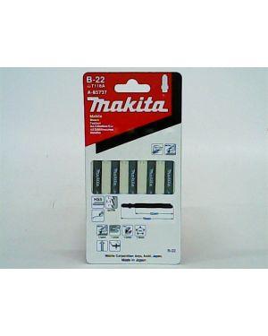 ใบจิ๊กซอว์ตัดเหล็กบาง ดาบ B-22 5Pcs A-85737 Makita