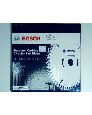 """ใบเลื่อยวงเดือน ตัดไม้ Eco 7 1/4"""" 24T Bosch"""