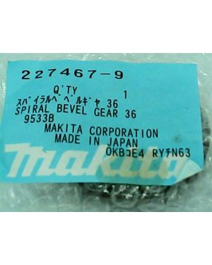 Spiral Bevel Gear 36 9533B(19) 227467-9 Makita