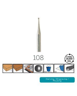 ดอกแกะสลัก 0.8mm 108 DE Dremel