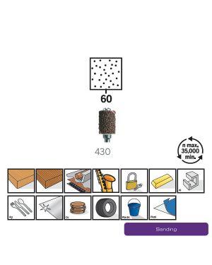ปลอกกระดาษทรายบวกก้าน 6.4mm 430 CN Dremel