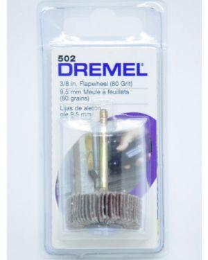 """แปรงขัดกระดาษทรายซ้อน 3/8"""" #80 502 Dremel"""