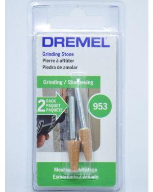 """หินเจียร์ AL Oxide 1/4"""" 2Pcs 953 Dremel"""