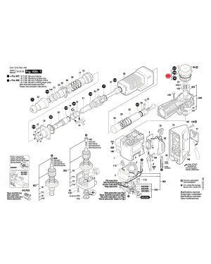 ฝาปิด GSH11E 1617000418 Bosch