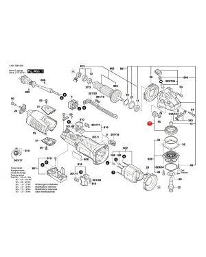ชุดเฟืองของล้อฟัน GWS12-125CI 1607000V44 Bosch
