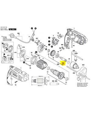 แกนสว่าน GSR16RE 2609110449 Bosch