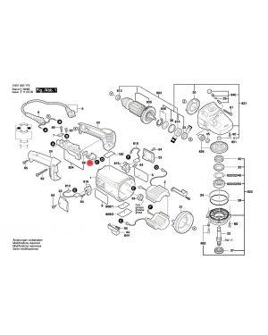 สายไฟปลอกขั้ว GWS20-180 1605190068 Bosch