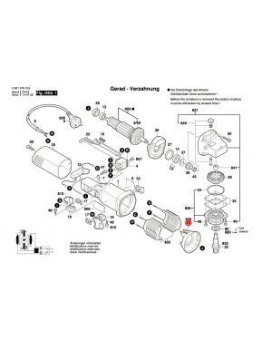 แหวนยาง GWS5-100 1600591023 Bosch