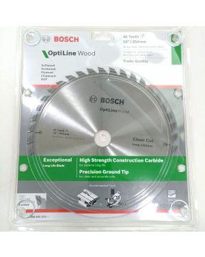 """ใบเลื่อยวงเดือน ตัดไม้ 10"""" 40T Bosch"""