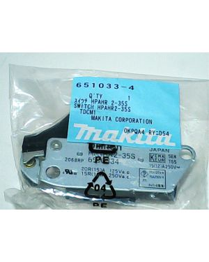 Switch HPAHR2-35S 9005N(39) 651033-4 Makita