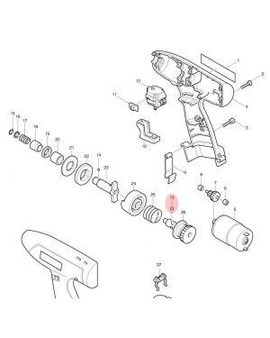 ลูกปืนเม็ด 5.6 HR2410(17) TX 216011-7 Makita