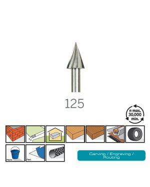 ดอกแกะสลักความเร็วสูง 6.4mm 2Pcs 125 DE Dremel