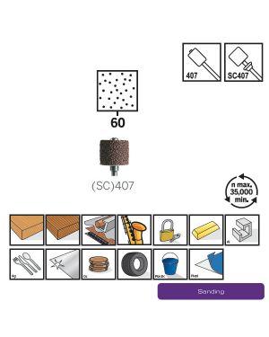 ปลอกขัดกระดาษทรายพร้อมแกน #60 407 CN Dremel