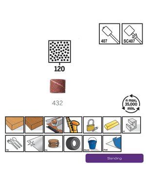 """ปลอกกระดาษทราย 1/2"""" #120 6Pcs 432 US Dremel"""