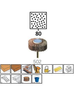 """แปรงขัดกระดาษทรายซ้อน 3/8"""" #80 502 US Dremel"""