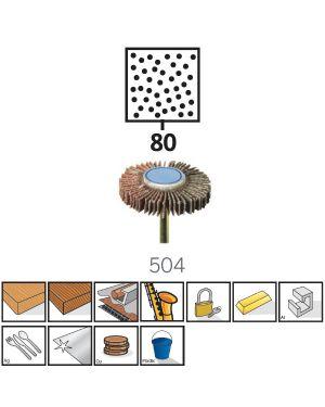 """แปรงขัดกระดาษทรายซ้อน 3/16"""" #80 504 IT Dremel"""