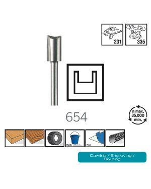 ดอกเซาะร่อง 6.4mm 654 CN Dremel