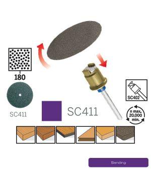 """กระดาษทราย #60 EZ Lock 1 1/4"""" EZ411 CN Dremel"""