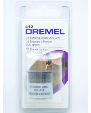"""กระดาษทราย 3/4"""" #220 36Pcs 412 Dremel"""