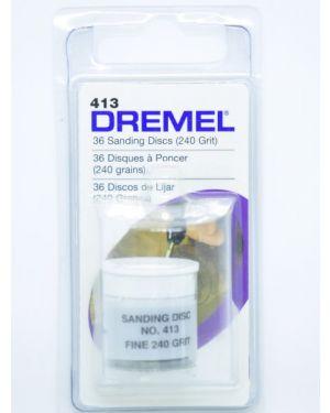 """กระดาษทราย 3/4"""" #240 36Pcs 413 Dremel"""