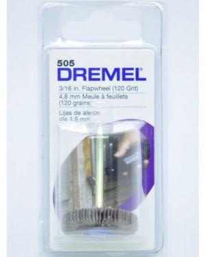 """แปรงขัดกระดาษทรายซ้อน 3/16"""" #120 505 Dremel"""